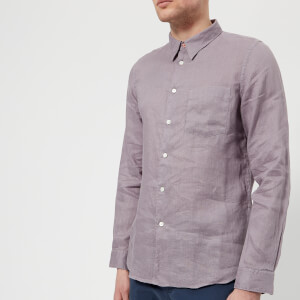 PS by Paul Smith Men's Tailored Fit Long Sleeve Shirt - Lilac