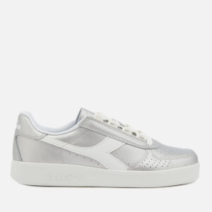 Diadora Women's B.Elite I Metallic Leather Trainers - Silver