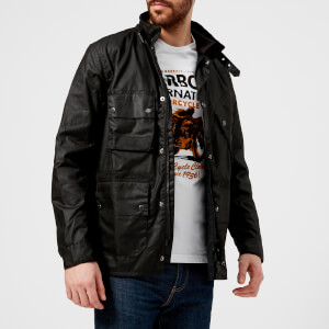 Barbour International Men's Rake Wax Jacket - Black