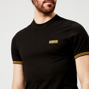 Barbour International Men's Cable Tipped T-Shirt - Black