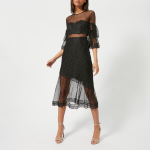Three Floor Women's Deep Moon Lace Dress - Black