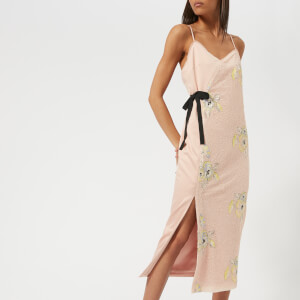 Three Floor Women's Slim Pin Sequin Dress - Blush