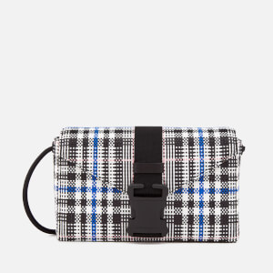 Christopher Kane Women's Woven Tartan Devine Shoulder Bag - Black/White/Multi