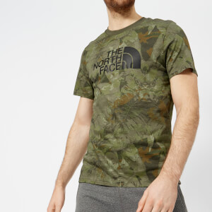 The North Face Men's Short Sleeve Easy T-Shirt - English Green Camo Print