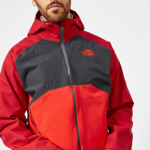The North Face Men's Stratos Jacket - Rage Red/Asphalt Grey/High Risk Red