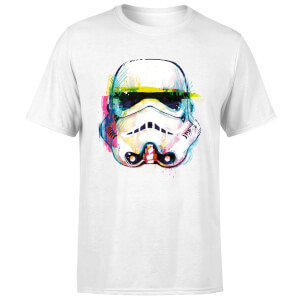 T-Shirt Homme Stormtrooper Paint Brush Art - Star Wars - Blanc