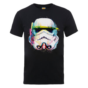 Star Wars Stormtrooper Paintbrush Art T-Shirt - Schwarz