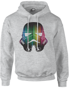 Star Wars Vertical Lights Stormtrooper Pullover Hoodie - Grey