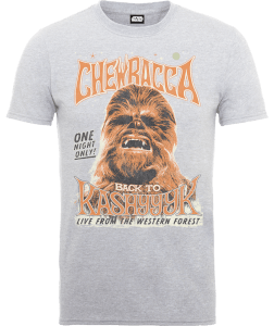 Star Wars Chewbacca One Night Only T-shirt - Grijs