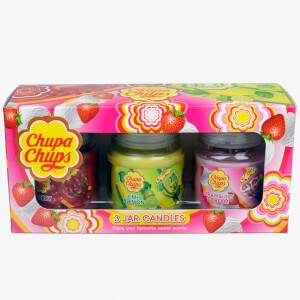 Coffret Cadeau Bougies Chupa Chups - Lot de 3