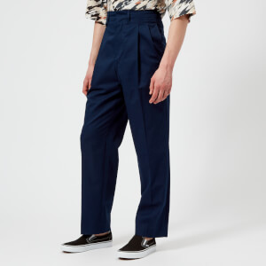 Lemaire Men's Two Pleated Trousers - Chinese Blue