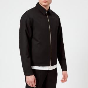 Lemaire Men's Wool Gabardine Short Blouson Jacket - Black