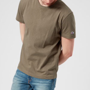 Champion Men's Short Sleeve Logo T-Shirt - Khaki