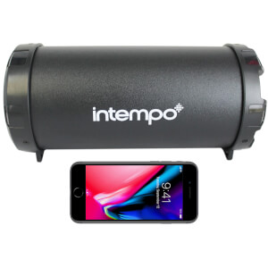 Intempo Large Wireless Bluetooth Tube Speaker - Black