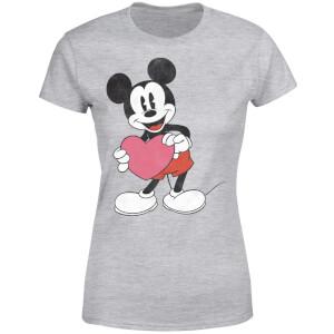 Disney Mickey Mouse Heart Gift Women's T-Shirt - Grey