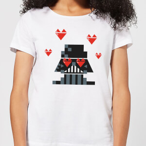 Star Wars Valentine's Vader In Love Frauen T-Shirt - Weiß