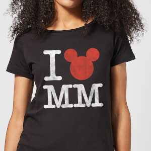 Disney Mickey Mouse I Heart MM Frauen T-Shirt - Schwarz