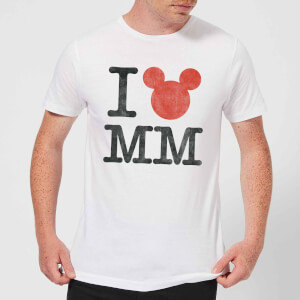 "Camiseta Disney Mickey Mouse ""I Love MM"" - Hombre - Blanco"