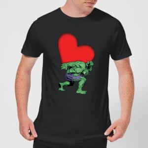 T-Shirt Homme Avengers Hulk Cœur (Marvel) - Noir