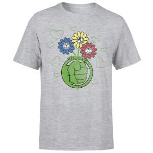 T-Shirt Homme Avengers Hulk Fleurs (Marvel) - Gris