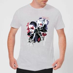 T-Shirt Homme Harley Quinn Love Puddin - Suicide Squad (DC Comics) - Gris
