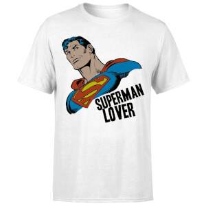 T-Shirt Homme Superman Lover (DC Comics) - Blanc