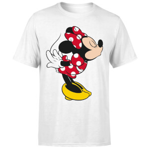 Disney Mickey Mouse Minnie Split Kiss T-Shirt - White