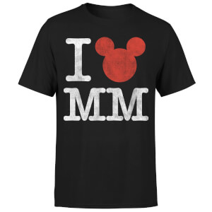 Disney Mickey Mouse I Heart MM T-Shirt - Black