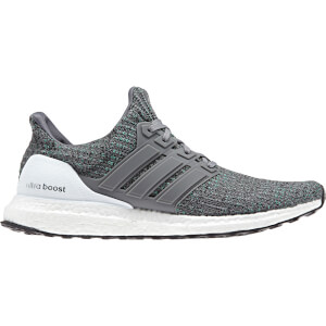 adidas Men's Ultraboost Running Shoes - Grey/Green