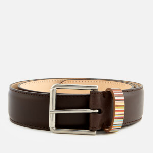 Paul Smith Accessories Men's Multistripe Keeper Belt - Choc