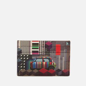 Paul Smith Accessories Men's Mini Print Credit Card Case - Black