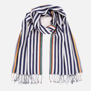 Paul Smith Accessories Men's Two Stripe Scarf - Blue