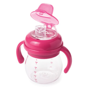 OXO Tot Transitions - Soft Spout Sippy Cup with Handles 175ml - Raspberry