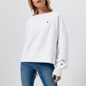 Champion Women's Batwing Sleeve Crew Neck Sweatshirt - White