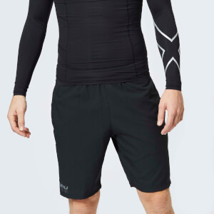 2XU Men's Training 2 in 1 Compression Shorts - Black/Silver