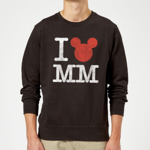 Disney Mickey Mouse I Heart MM Sweatshirt - Black
