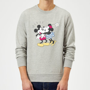 Sweat Homme Bisou Minnie Mouse et Mickey Mouse (Disney) - Gris