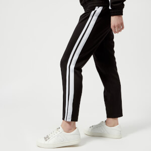 Juicy Couture Women's Stripe Tricot Cropped Trackpants - Pitch Black