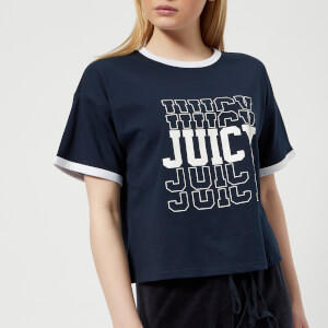 Juicy Couture Women's Juicy Mirrored Logo Graphic T-Shirt - Regal