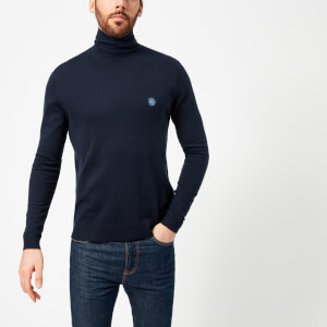 Pretty Green Men's Hinchcliffe Roll Neck Jumper - Navy