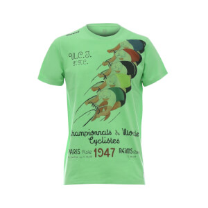 Santini UCI Rainbow Paris 1947 T-Shirt - Green