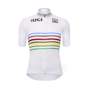 Santini UCI Master World Champion Jersey 2018 - White
