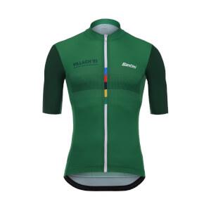 Santini UCI Grandi Campioni Roche Jersey - Green