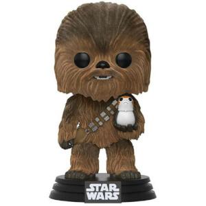 Star Wars Chewbacca with Porg Flocked EXC Pop! Vinyl Figure