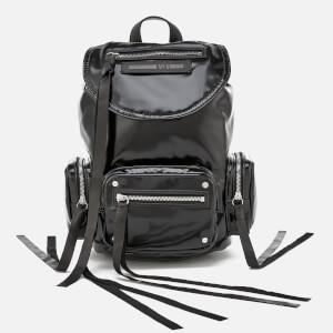 McQ Alexander McQueen Women's Mini Conv Vinyl Drawstring Bag - Black