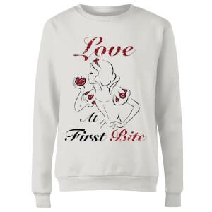 Disney Princess Snow White Love At First Bite Women's Sweatshirt - White
