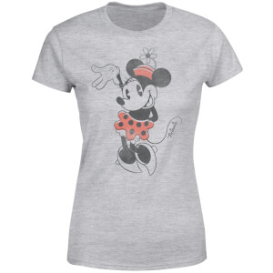 Disney Mickey Mouse Minnie Mouse Waving Women's T-Shirt - Grey
