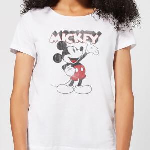 Disney Mickey Mouse Presents Women's T-Shirt - White