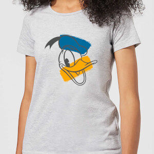 Disney Mickey Mouse Donald Duck Head Women's T-Shirt - Grey