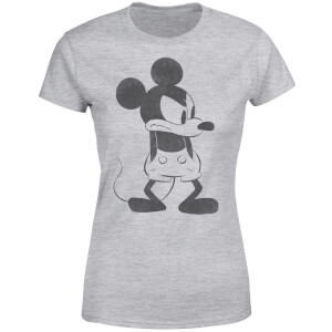 Disney Mickey Mouse Angry Women's T-Shirt - Grey
